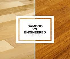 bamboo flooring vs engineered hardwood