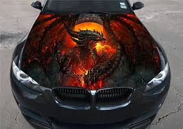 Buy Full Color Dragon Fire Sticker Car Hood Vinyl Sticker Car Vinyl Graphics Decal Wrap Car Hood Graphics Fit Any Vehicles Mh82 In Cheap Price On Alibaba Com