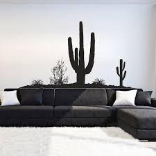 I108 Wall Decal Sticker Mexico Cactus Desert Mirage Pesek Nature Landscape Hot 3m Modern Vinyl Wall Decals Western Home Decor Wall Stickers Murals