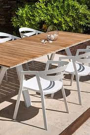 aluminium extension dining table