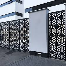 Custom Laser Cut Main Gate Design Aluminum Laser Cut Perforated Screen Fence Panel Buy Laser Cut Main Gate Design Perforated Screen Fence Panel Product On Alibaba Com