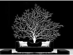 Large Tree Wall Decal Vinyl Winter Tree Wall Decal Tree Wall Sticker White Tree Wall Decals Nature Wall Deca Tree Wall Decal Mural Wall Art Nursery Wall Decals