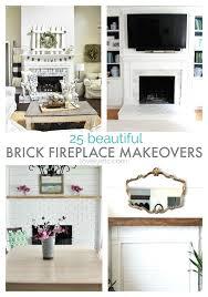 diy brick fireplace makeovers