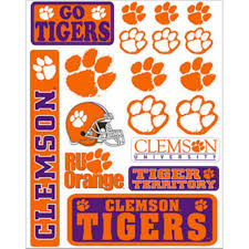 Clemson Tigers Decals 18ct Party City