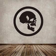 3m Wall Sticker Decal Vinyl Skull Death Rock Motorcycle Arsenal Music