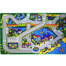Kids Rug Harbor Map 5 X 7 Childrens Fun Learning Carpet 59 X 82 Walmart Com Walmart Com