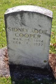 Sidney Addie Cooper (1894-1922) - Find A Grave Memorial