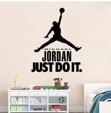 Amazon Com Wangjru Just Do It Basketball Sports Iconic Wall Sticker Sticker Boy Bedroom Sticker Mural Vinyl Decal Living Room Home Decor 57x72cm Baby