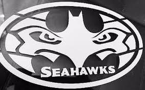 12 Seattle Bathawk Batman Seattle Seahawks Logo White Vinyl Auto Decal Sticker Seattle Seahawks Logo Seattle Seahawks Funny Seattle Seahawks