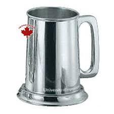 pewter mug engraved pewter beer mug