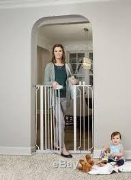 Dog Gate Walk Thru Pet Fence Baby Child Safety Indoor Adjustable Extra Tall 41