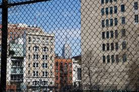 Empire State Building View Through Fence Ny Clips