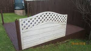 4 b q fence panels for decking white