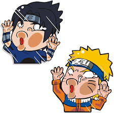 Amazon Com Funtaku Naruto Sasuke Funny Hitting Glass Vinyl Decal Sticker For Car Window Computer Clothing