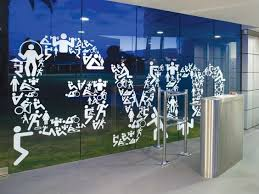 Pin By Robert T On Outside Window Wayfinding Design Window Graphics Gym Design