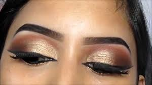 gold indian eye makeup saubhaya makeup