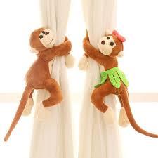 2pcs Monkey Curtain Buckle Tiebacks Holder Window Drapery Hooks Decoration Kids Curtains Curtain Tie Backs Curtain Tie Back Hooks