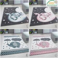 Elephant Nursery Rug Kids Round Floor Carpet Childrens Animal Baby Room Mat New Ebay