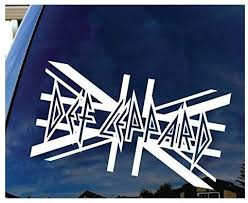 Amazon Com Def Leppard British Rock Band Logo Sign Silhouette Decal Sticker White Sticker Graphic Auto Wall Laptop Cell Kitchen Dining