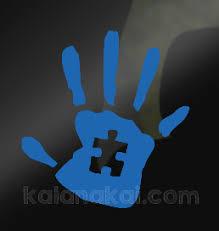 Autism Awareness Handprint Decal Blue Sold By Kalanakai Custom Designs On Storenvy