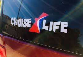 Car Window Decal Quot Cruise Life Quot Carnival 2 5 Quot X 9 5 Quot Tiki Font Car Window Decals Window Decals Car Window