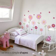 Simple Shapes Daisy Flower Wall Decals Will Brighten Up Your Little Girls Nursery Use These Flow Girls Room Wall Decor Flower Wall Decals Nursery Decals Girl