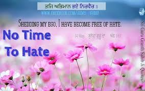 shedding me ego i have become of hate no time to hate