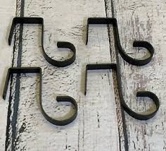 Bracket Fence Panel Garden Hanging Hooks Set Of 4 Ebay
