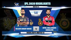 KKR VS RCB IPL 2020 HIGHLIGHTS II ...