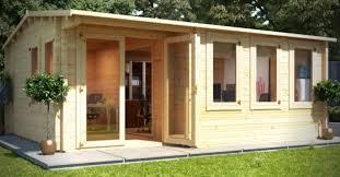 turn a log cabin into a garden office