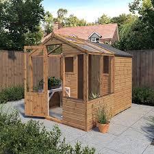 waltons 8 x 6 shiplap combi greenhouse