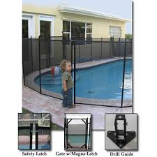 Removeable Safety Fence For In Ground Pools 4 X 10 Section 30 0410 Blk