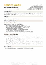 personal fitness trainer resume sles