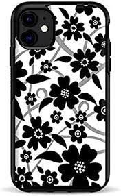 Amazon Com Skins For Otterbox Symmetry Case For Iphone 11 Skin Decal Vinyl Wrap Decal Stickers Skins Cover Black White Flower Print
