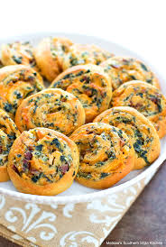 bacon spinach crescent pinwheels