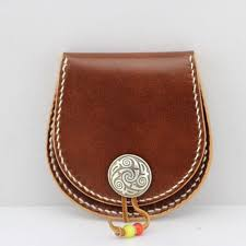 pattern template leather coin wallet