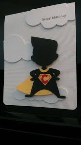 Superhero Boy Birthday Card Silhouette Cameo Files