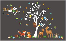 Forest Nursery Wall Decals Nursery Wall Decals Woodland Theme Nurserydecals4you