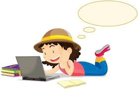 Image result for free girl student on computer caracature