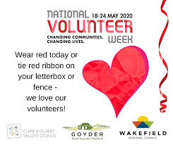 It S National Volunteer S Week Show Regional Council Of Goyder Facebook