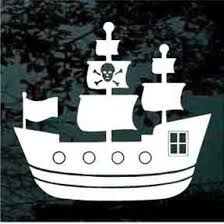 Pirate Ship Car Decals Window Stickers Decal Junky