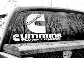 Product Decals Stickers For Cummins Turbo Diesel Power Ram Rear Window 4x4 Vinyl