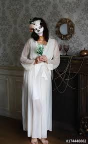 dead bride skull makeup photo shoot