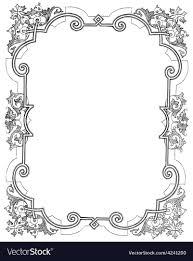vine frame royalty free vector image