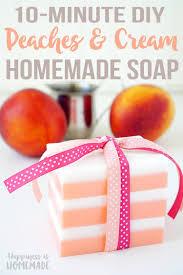 10 minute diy peaches and cream soap