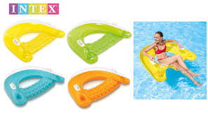 intex inflatable sit n float swimming