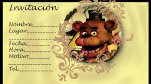 Five Nights At Freddy S Invitaciones