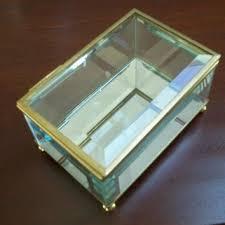 vintage glass jewelry box on wanelo