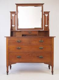 arts crafts oak dressing table chest