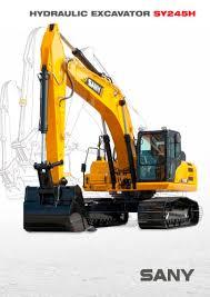 sy245h 24 5 ton hydraulic excavator